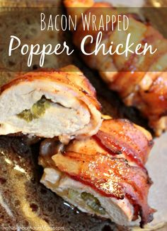 Bacon Wrapped Texas Popper Chicken is one of our favorite grilled chicken recipes, but this one is baked. You can also use teriyaki instead of barbecue in this!