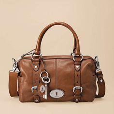 "Fossil Maddox Leather satchel. In MANY colors. Want the ""Grass"", ""Rose"", ""Sea Green"", all of them! $198. Love the vintage look!"