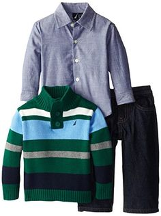 Nautica Baby-Boys Infant 3 Piece Multi Stripe Sweater Set, Hunter, 12 Months Nautica http://www.amazon.com/dp/B00KEZXLW0/ref=cm_sw_r_pi_dp_GSJ4ub1JT9X03