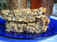 healthy homemade granola bars - the best. these are a family favorite.