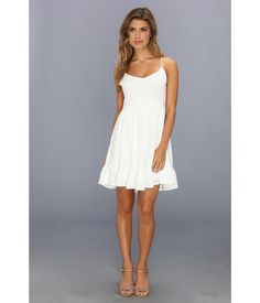 Stylish woven sundress gets its cool color from a special tea wash process.. V-neckline.. Adjustabl...