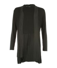 Basic Viscose Cardigan Black - Jenterommet Black Cardigan, Sweaters, Fashion, Moda, Fashion Styles, Sweater, Fashion Illustrations, Sweatshirts, Pullover Sweaters