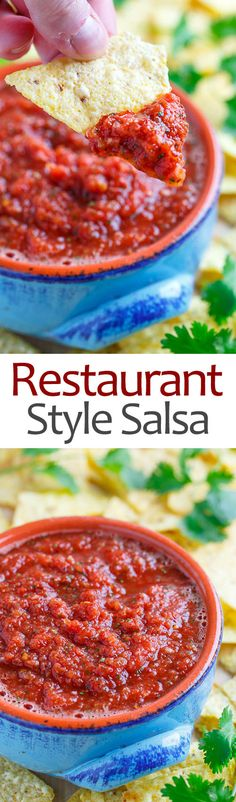 Easy homemade salsa, Restaurant style salsa and Salsa on Pinterest