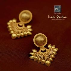 Photo shared by PC Jeweller official on July 2018 tagging Gold Jhumka Earrings, Indian Jewelry Earrings, Jewelry Design Earrings, Gold Earrings Designs, Gold Mangalsutra Designs, Gold Jewellery Design, Ear Jewelry, Gold Necklace, Gold Jewelry Simple