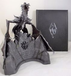 """Alduin Statue. Created in conjunction with the IP Factory, this collector's only statue stands 12"""" tall and is made of high quality PVC. Modeled from actual in-game 3D digital files, it showcases Alduin, the World Eater. 