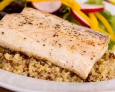 Photo about Cooked mahi mahi fish fillet dish on quinoa with vegetables. Image of dish, grilled, whitefish - 41490010 Mahi Mahi Fillet, Grilled Mahi Mahi, Mahi Fish, Grilling Recipes, Fish Recipes, Seafood Recipes, Healthy Recipes, Lunch Recipes, Yummy Recipes