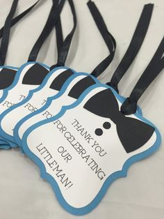 Little Man Bow Tie Favor Tags Boy 1st Birthday by MySweetPaperie
