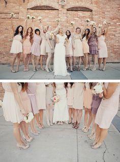 Blush Pink Peach Wedding Lavender Bridesmaid Dressesc