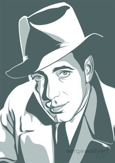 Humphrey Bogart by sergemalivert
