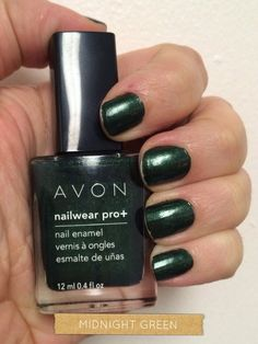Avon nail polish in Midnight Green