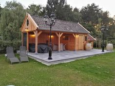 Backyard Pavilion, Backyard Sheds, Outdoor Kitchen Patio, Outdoor Pergola, Garage Plans With Loft, Gazebo Roof, Loafing Shed, Garden Cabins, Pool House Designs