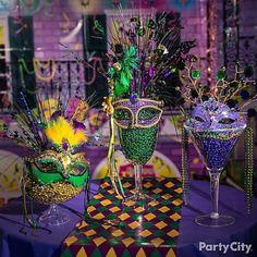 Mardi Gras Beads Display Idea -