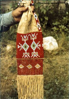 A sacred pipe bag originally belonged to Black Elk...a famous Sioux Holy Man