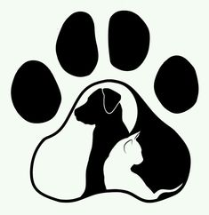 Ideas tattoo dog cat silhouette for 2019 Dog Silhouette, Silhouette Projects, Dog Tattoos, Cat Tattoo, Cat Design, Logo Design, Creation Image, Dog Paws, Pyrography