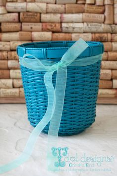 Round #Teal #Basket by @TdotDesigns | classic as a... | Wicker Blog  wickerparadise.com