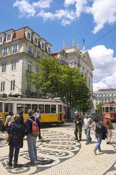 The Bairro Alto District, Lisbon, Portugal