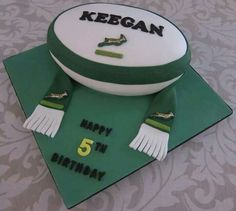 Springbok rugby bal Baby Birthday, Birthday Cake, Rugby Cake, Party Themes, Cake Decorating, Cakes, Ideas, Pies, Cake Makers