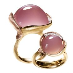 Gemstone and diamond rings by Charlotte & Ole Lynggaard