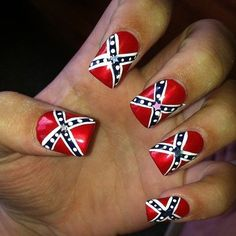 My rebel flag nails i love them things i love pinterest find this pin and more on nail art i love my rebel flag prinsesfo Gallery
