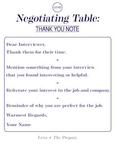 Sample post-interview thank-you note: Get your dream job and we ...