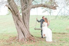 Romantic tree swing for two! Red Maple Vineyard wedding by Cassi Claire (www.cassiclaire.com)