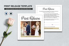 Photographer Print Release Template | Copyright Form for Wedding Photographers | Photoshop and Elements Template | Instant Download