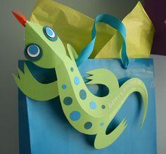 Leuke Lintjes: Cadeaulabels 3d Salamanders