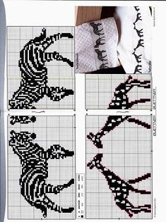 Blk and white Cross Stitch Numbers, Cross Stitch Boards, Just Cross Stitch, Cross Stitch Needles, Cross Stitch Baby, Cross Stitch Animals, Blackwork Embroidery, Diy Embroidery, Cross Stitch Embroidery