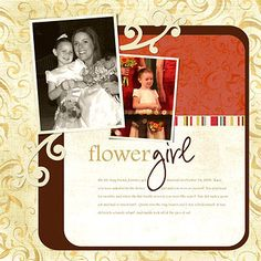 Simple Flower Girl Layout