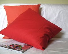 Johoel Decor Cushion | C7M-JDC-S3 | Bring a burst of fresh colour to your room with the Johoel Decorative Sunset Linen Cushion. Featuring a fushia cushion with back envelope opening and feather inner pad. Mix and match with Ariel's White Linen Cushion to create a stylish and modern living space in your home | SALE £27