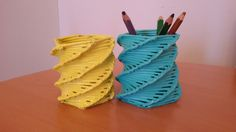 pletení z papírových trubiček