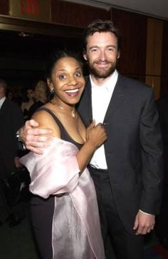 Hugh and his co-star from Carousel on Broadway, Audra AUDRAAAAA <3 <3 <3