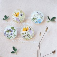 Botanical brooch with yellow celandine flowers. Real herbs on white. Summer jewellery. Botanical accessories. gift for her by OneFlowerStory on Etsy