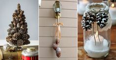 Here are 20 Best Pinecone Crafts from the Internet to make your day! Get some glue, twine and pinecones and create beautiful ornaments! Save money!