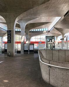 CDG is full of that brutal concrete, here's the 1976 Roissypôle station by architect Paul Andreu who also designed the rest of Charles de Gaulle airport.