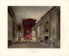 King's Presence Chamber, St James's Palace, from Pyne's Royal Residences, 1819 - panteek - Category:St. James's Palace in art - Wikimedia Commons