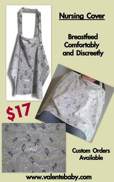 Nursing Covers, Breastfeeding Accessories, Breastfeeding Cover, Cover Style, Cover Gray, Sewing Art, Baby Feeding, Bird, Grey