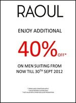 nice 10-30 September 2012: Raoul Discount Promotion