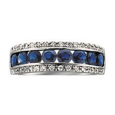 sapphire anniversary ring - Google Search