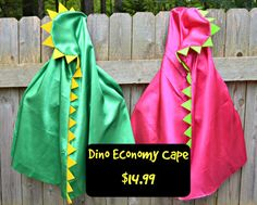 Dinosaur Cape Superhero Cape with Hood. Easy by CapesAndMore