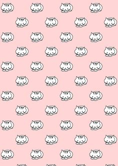 FREE printable kitty cat pattern paper | kawaiicat