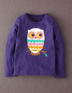 I've spotted this @BodenClothing Big Appliqué T-shirt Inky Blue Owl