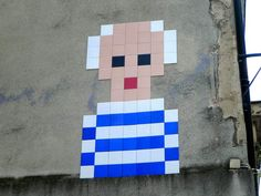 Picasso Pixel Portrait by Space Invader http://www.space-invaders.com/
