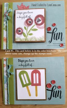 Blossom Card Kit, Card #1. You can learn more HERE: http://lynncomo.com/5…/blossom-a-versatile-kit-of-the-month/