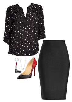 """""""Lena Luthor Inspired Outfit"""" by daniellakresovic ❤ liked on Polyvore featuring Love This Life, Christian Louboutin, Roland Mouret and Manic Panic NYC"""