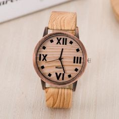 Simulated Wood Men or Women's Quartz Watch