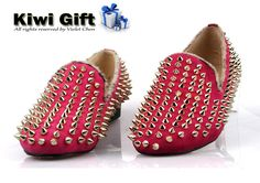 Punk women shoes,genuine leather shoes,Handmade shoes, High quality