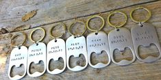 groomsmen gifts, for the groomsmen, personalized key chains, bottle opener, wedding gifts for groomsmen, custom key chains