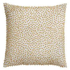 Cushion Cover 50x50cm Pompom Curry Emb | Bungalow Denmark