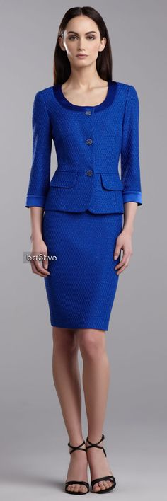 St. John Collection Shimmer Lattice Peplum Jacket & Dress